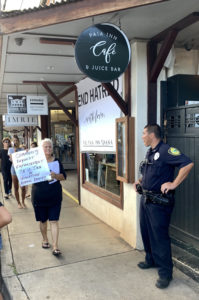 Protests at Pa'ia Inn, owner claims activists spread misinformation