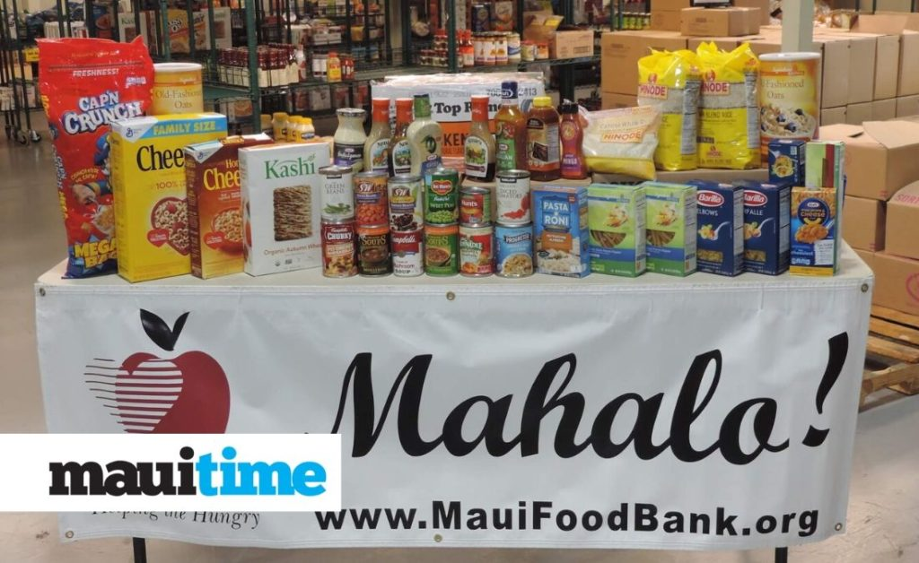 Maui Food Bank is Accepting Donations Online and at the Food and Medical Drive this Week